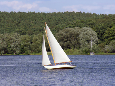 Segelboot im Havelland